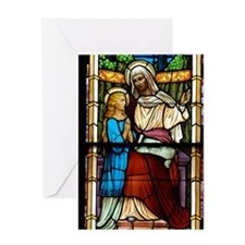 St Anne with Mary Greeting Card
