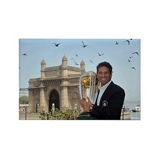 Sachin Tendulkar Rectangle Magnet
