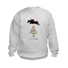 Horse Jumping Christmas Sweatshirt