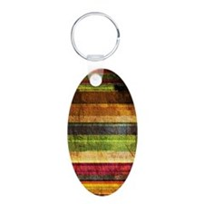 Multicolored Wood  Keychains