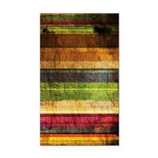 Multicolored Wood  Rectangle Car Magnet