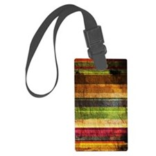 Multicolored Wood  Luggage Tag