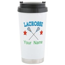 Lacrosse Personalized Star Travel Mug