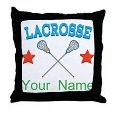 Lacrosse Personalized Star Throw Pillow