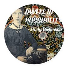 Dwell in Possibility Round Car Magnet
