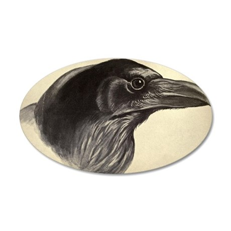 Raven 35x21 Oval Wall Decal