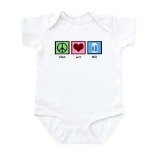 Peace Love Milk Infant Bodysuit