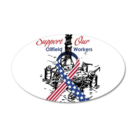 oilfield_support.png 20x12 Oval Wall Decal