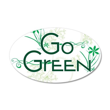 Go Green Design 35x21 Oval Wall Decal