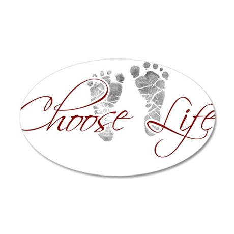 choos life.png 20x12 Oval Wall Decal