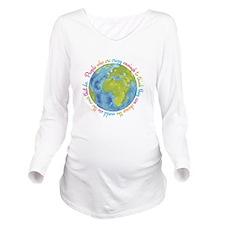 Change the world Long Sleeve Maternity T-Shirt