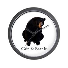 grin & bear it Wall Clock