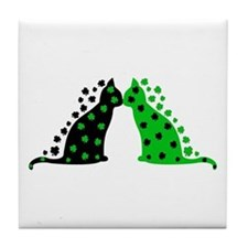 Irish Cats Tile Coaster