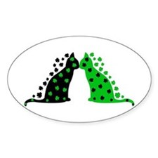Irish Cats Oval Decal