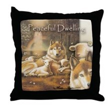 """Peaceful Dwelling"" Fine Art Wild Life Pillow"