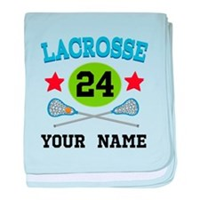 Lacrosse Player Personalized baby blanket