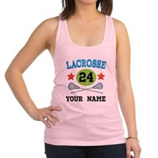Lacrosse Player Personalized Racerback Tank Top