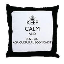 Keep Calm and Love an Agricultural Economist Throw
