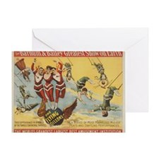 Vintage Barnum & Bailey Greatest Sho Greeting Card