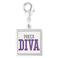 Poker DIVA Silver Square Charm