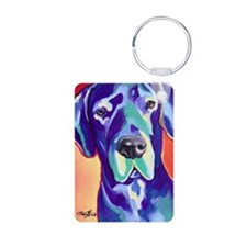 Great Dane - Gus with Blac Keychains
