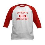 Property of a Danish Boy Kids Baseball Jersey