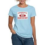Property of a Danish Boy Women's Pink T-Shirt