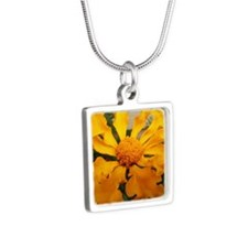 Zinnia Silver Square Necklace