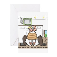 Giant Snail Escape Greeting Cards (Pk of 20)