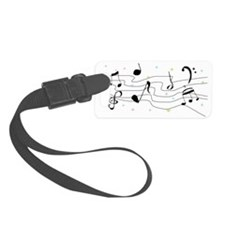 Sparkly Music Notes Luggage Tag