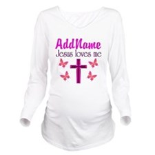 JESUS LOVES ME Long Sleeve Maternity T-Shirt