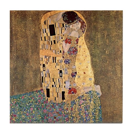 The Kiss by Gustav Klimt Ceramic Art Tile Coaster