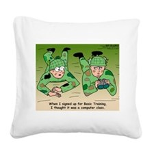 Basic Training Square Canvas Pillow