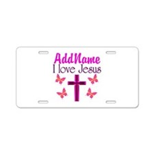 I LOVE JESUS Aluminum License Plate