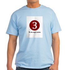 3 Its the Magic Number Ash Grey T-Shirt