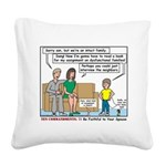 Intact Family Square Canvas Pillow