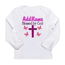BLESSED BY GOD Long Sleeve Infant T-Shirt