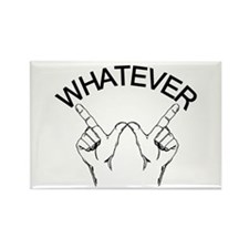 Whatever ... Hand gesture Rectangle Magnet (100 pa
