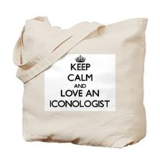 Keep Calm and Love an Iconologist Tote Bag