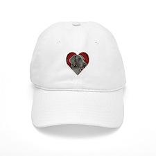Weimeraner Valentine Baseball Cap