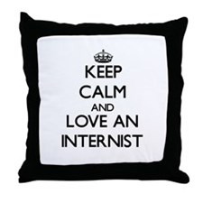 Keep Calm and Love an Internist Throw Pillow