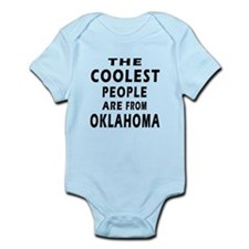 The Coolest People Are From Oklahoma Infant Bodysu