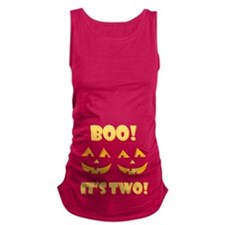 Boo! Its Two! Twin Jack OLantern Maternity Tank To