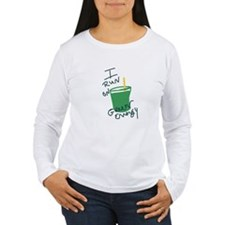 I run on Green Energy Long Sleeve T-Shirt