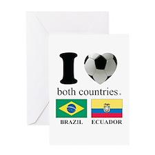 BRAZIL-ECUADOR Greeting Card