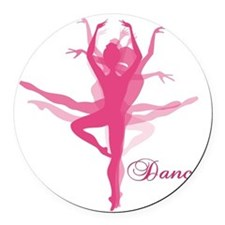 Ballet Dancer Round Car Magnet