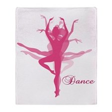 Ballet Dancer Throw Blanket