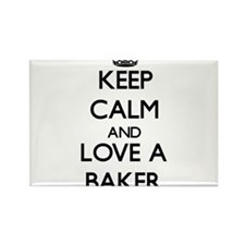 Keep Calm and Love a Baker Magnets