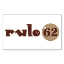 Rule 62 AA Slogan Rectangle Decal