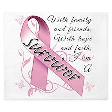 Breast Cancer Awareness King Duvet
